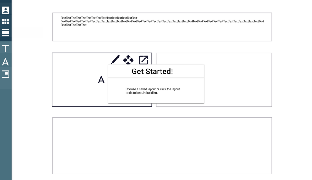 A prototype of the layout tool made with UXPin