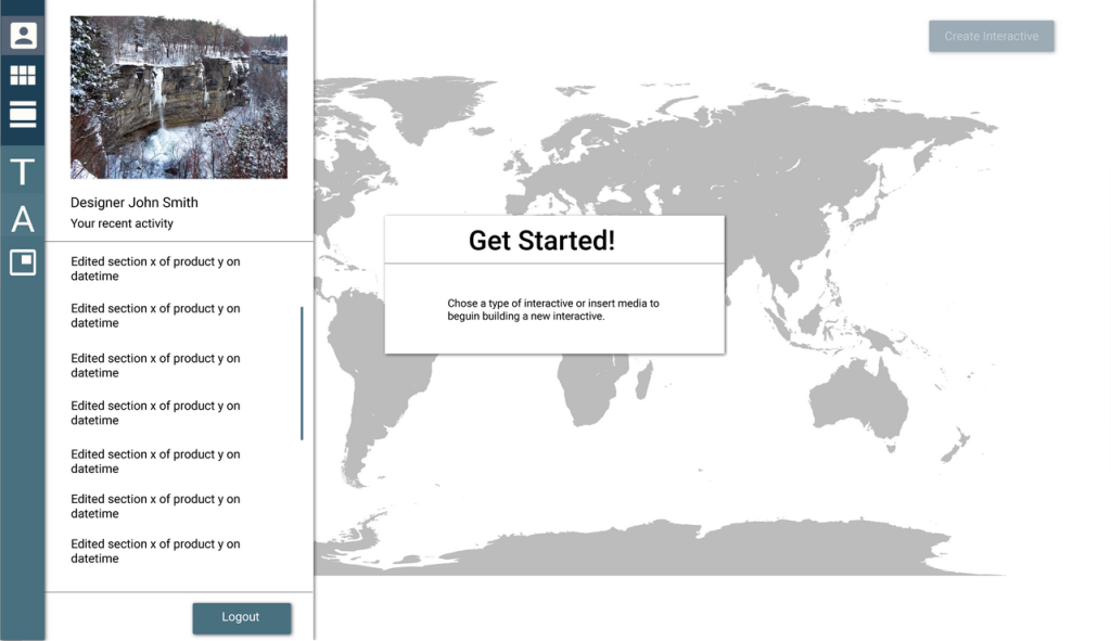 A prototype of the interactive builder tool.